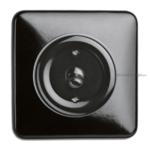 Bakeliet montageplaat zwart 1-voudig vierkant