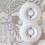 Porselein schakelaar wit inbouw