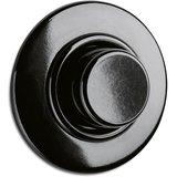 Bakeliet dimmer inbouw zwart LED halogeen rond 100274 THPG