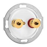 Luidspreker aansluiting wit bakeliet duroplast WBT 100739 100740 THPG