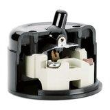 Bakeliet opbouw schakelaar kiepschakelaar doorsnede schuin zwart IP20