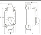 Bakeliet-opbouw-garage-stopcontact-afmetingen-IP44