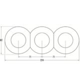 Bakeliet-drievoudig-rond-inbouw-afmetingen