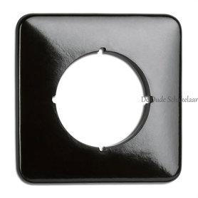Bakeliet afdekraam vierkant zwart