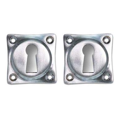 Sleutelrozet nikkel zilver mat
