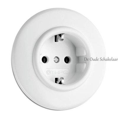 Wit bakeliet stopcontact wandcontactdoos inbouw