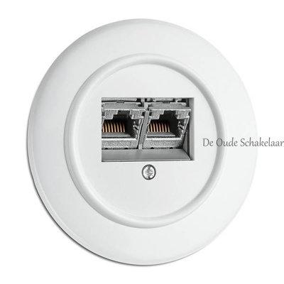 Wit bakeliet UTP netwerkaansluiting inbouw