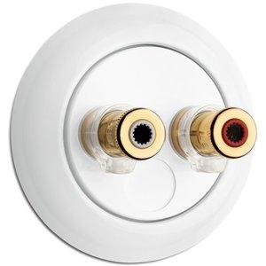 Porselein speaker luidspreker aansluiting WBT 100741 thpg banaan banana plug