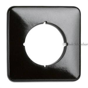 Bakeliet zwart afdekraam enkel vierkant