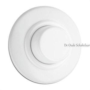 Duroplast wit bakeliet dimmer inbouw rond