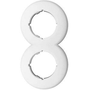 Wit bakeliet 2-voudig rond afdekraam duroplast